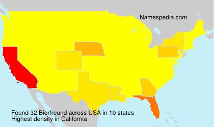 Surname Bierfreund in USA