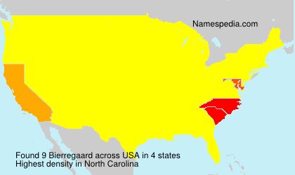 Surname Bierregaard in USA