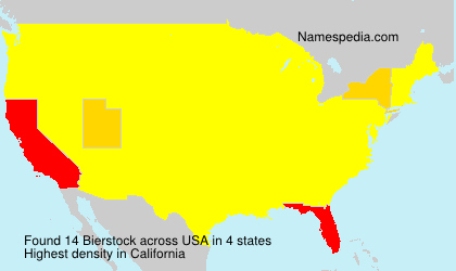 Familiennamen Bierstock - USA