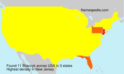 Surname Bijaczyk in USA