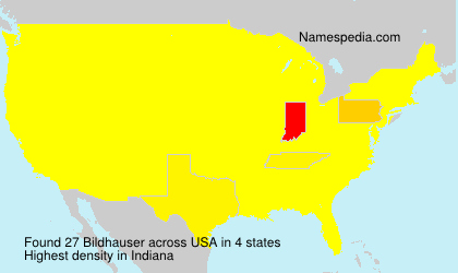 Surname Bildhauser in USA