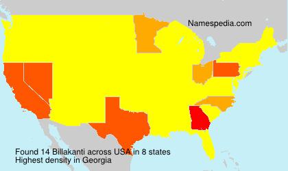 Surname Billakanti in USA