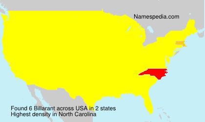 Surname Billarant in USA