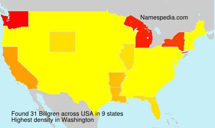 Surname Billgren in USA