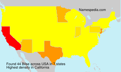 Surname Bilse in USA
