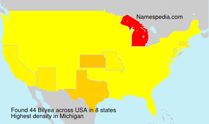 Surname Bilyea in USA