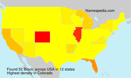 Surname Biocic in USA