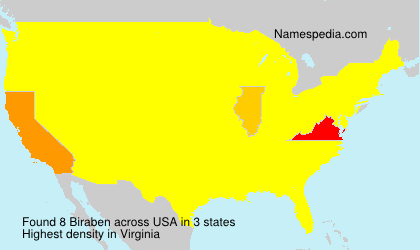 Surname Biraben in USA