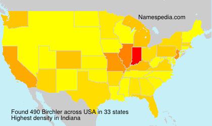 Surname Birchler in USA