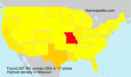 Surname Biri in USA