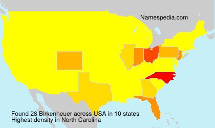 Surname Birkenheuer in USA