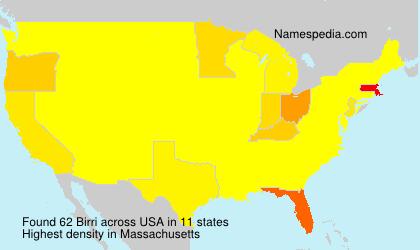 Surname Birri in USA
