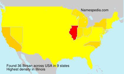 Surname Birsan in USA
