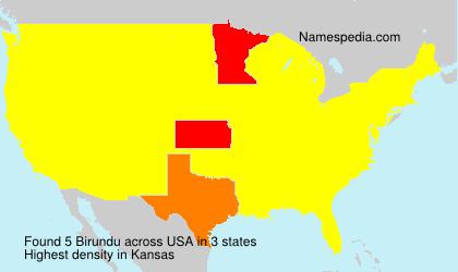 Familiennamen Birundu - USA