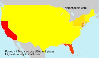 Familiennamen Bisda - USA