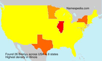 Familiennamen Bisiriyu - USA