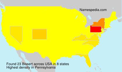 Surname Bissert in USA