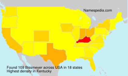 Surname Bissmeyer in USA