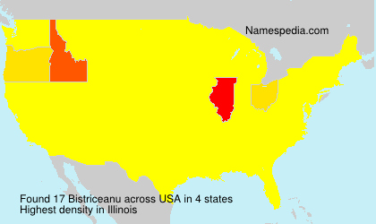 Surname Bistriceanu in USA