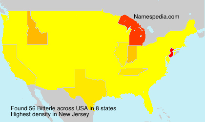 Surname Bitterle in USA