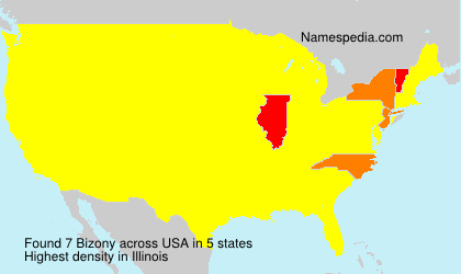 Surname Bizony in USA