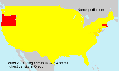 Surname Bjurling in USA