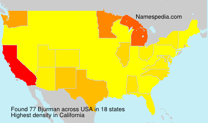 Surname Bjurman in USA