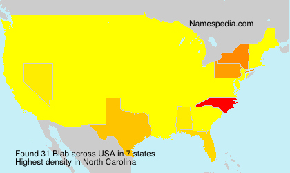 Surname Blab in USA