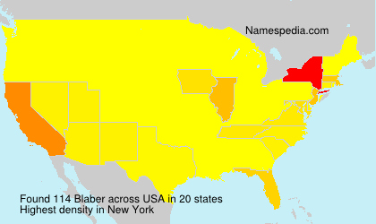 Surname Blaber in USA