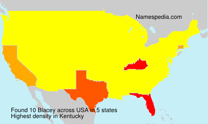 Surname Blacey in USA