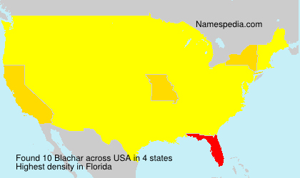 Surname Blachar in USA