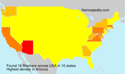 Surname Blachere in USA