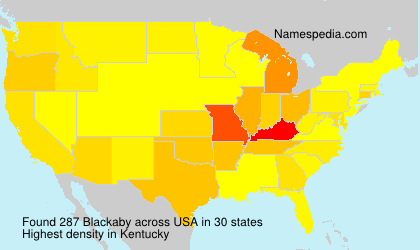 Surname Blackaby in USA