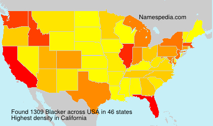Surname Blacker in USA