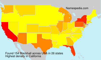 Surname Blackhall in USA