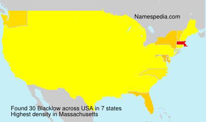 Familiennamen Blacklow - USA