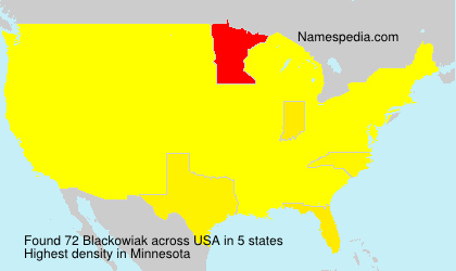Surname Blackowiak in USA