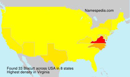 Familiennamen Blacutt - USA