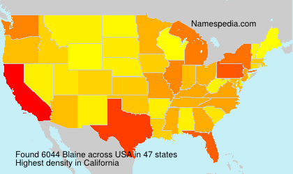 Surname Blaine in USA