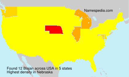 Surname Blajan in USA