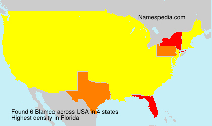 Surname Blamco in USA