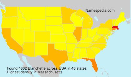 Familiennamen Blanchette - USA