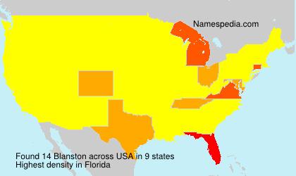 Familiennamen Blanston - USA