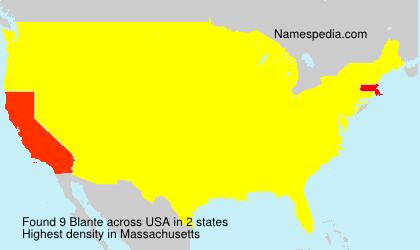 Surname Blante in USA