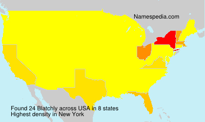 Surname Blatchly in USA