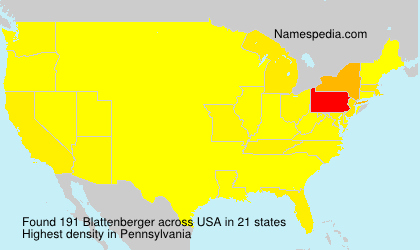 Surname Blattenberger in USA