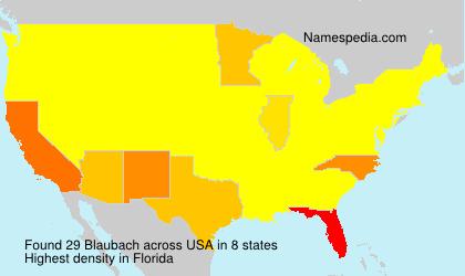Familiennamen Blaubach - USA