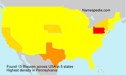 Surname Blausen in USA