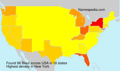 Familiennamen Blaut - USA