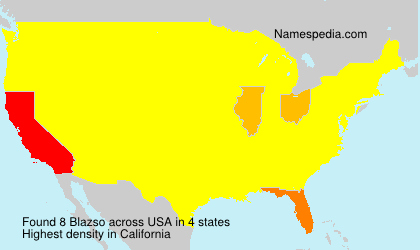 Surname Blazso in USA